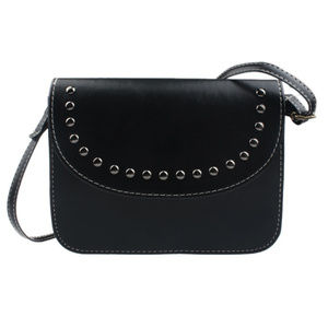 Handbags - Studded Black Messenger Bag